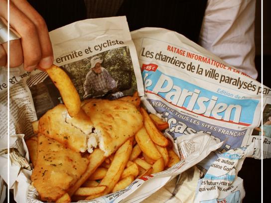 Club NME Paris Print Ad -  A British Party in Paris, 3
