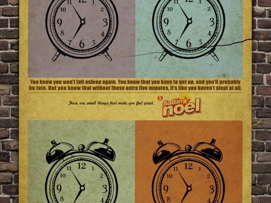 Noel Print Ad -  Alarm clock