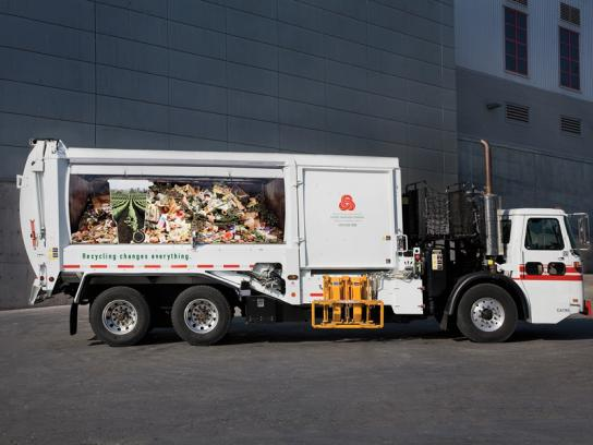 Norcal Print Ad -  Recycling Promotion, garbage truck, Vineyard