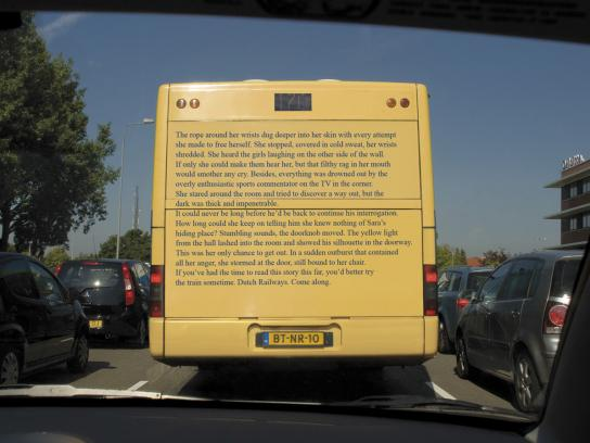 Dutch Railways Outdoor Ad -  Textbus
