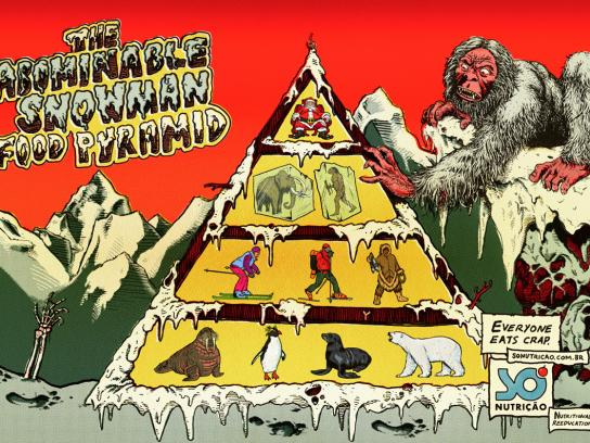 Só Nutrição Print Ad -  The abominable snowman food pyramid