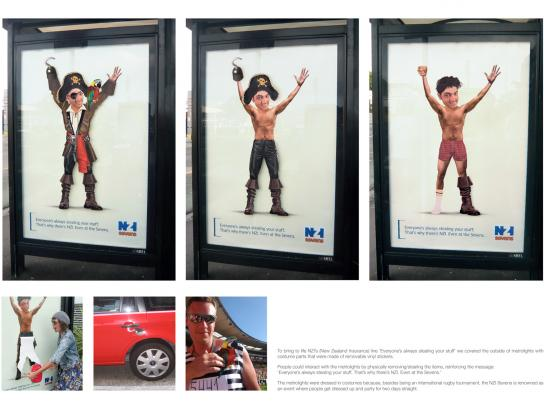 New Zealand Insurance Outdoor Ad -  Pirate