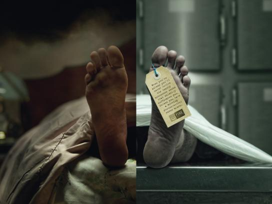 New Zealand Fire Service Print Ad -  Feet