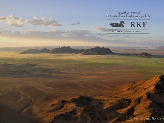 Rockford Print Ad -  Namibia Desert
