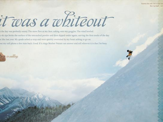 New Mexico Office of Tourism Print Ad -  Skiing