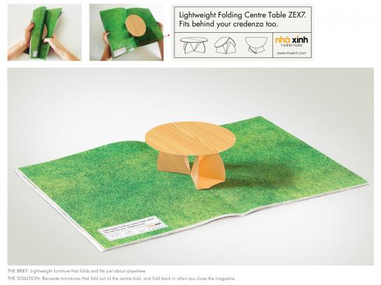 Nha Xinh Furniture Print Ad -  Folding Table