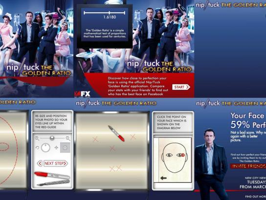 Nip/Tuck Digital Ad -  Facebook application