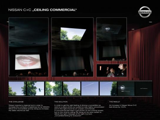 Nissan Ambient Ad -  Cinema Ceiling