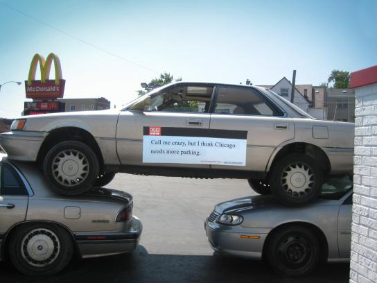Chicago Now Ambient Ad -  No parking