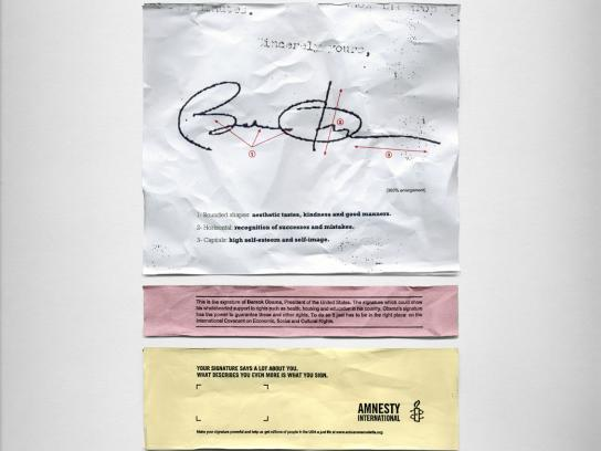 Amnesty International Print Ad -  Obama