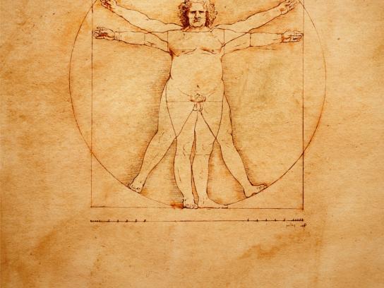 Obese vitruvian man