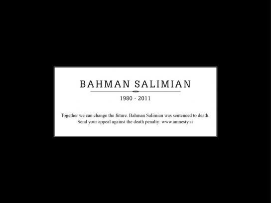Amnesty International Print Ad -  Obituary, Bahman Salimian
