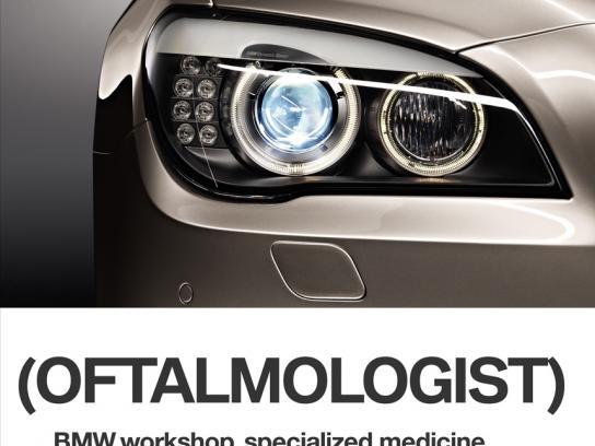 BMW Print Ad -  Oftalmologist