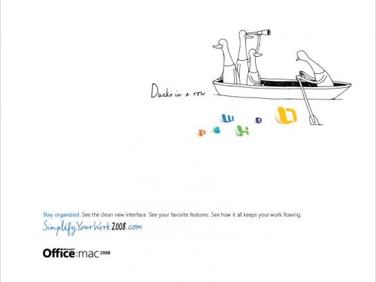 Mac 2008  Simplify Your Work, Ducks row