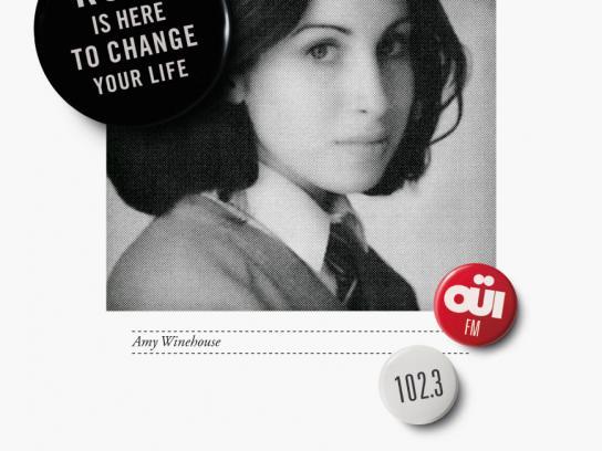 Oui FM Print Ad -  Amy