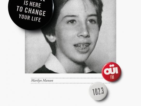 Oui FM Print Ad -  Marilyn