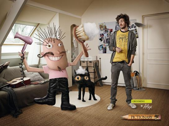 Pictionary Print Ad -  Grooming