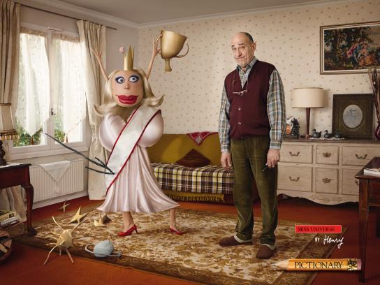 Pictionary Print Ad -  Miss Universe