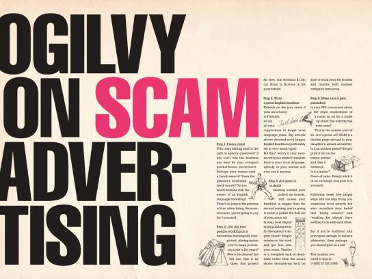 Ogilvy Print Ad -  Ogilvy on scam advertising