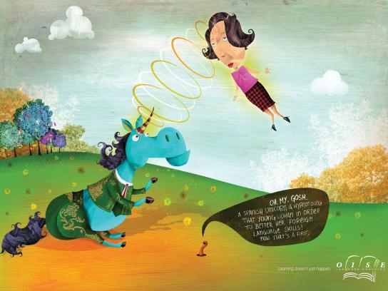 Oise Print Ad -  Unicorn