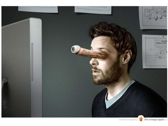 The Orange Apple Print Ad -  Eye boner