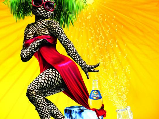 Orangina Print Ad -  Palm tree