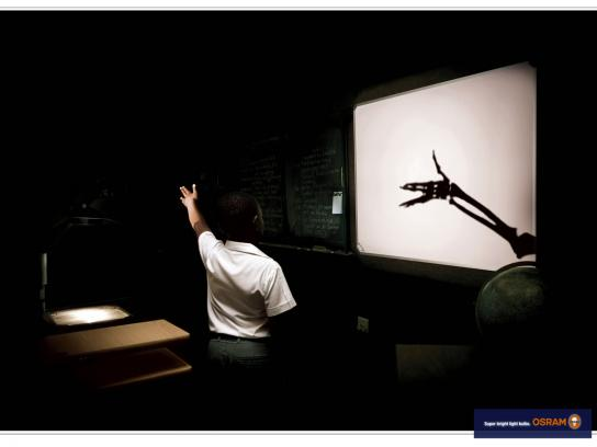 Osram Print Ad -  Shadow puppets