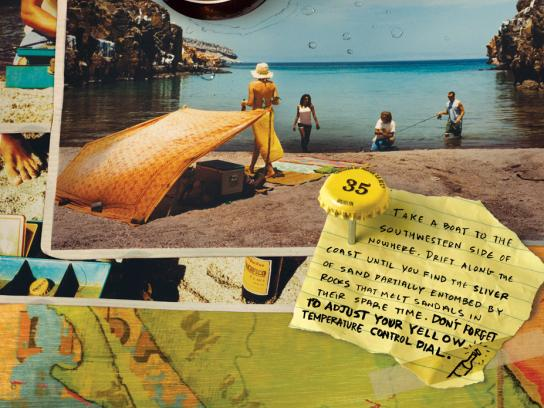 Pacifico Print Ad -  Secret beach