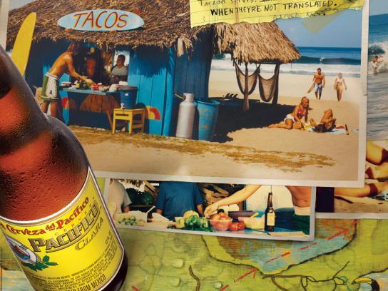 Pacifico Print Ad -  Taco stand