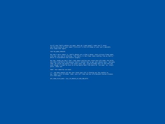 PC medic Print Ad -  Blue screen, 2