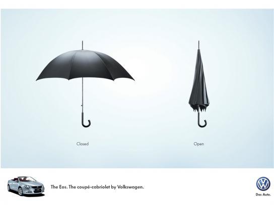 Volkswagen Print Ad -  Umbrella