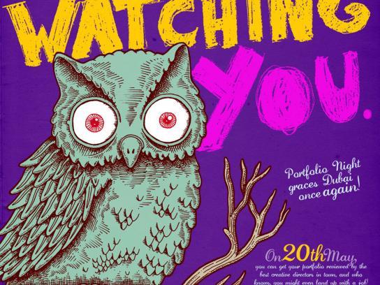Portfolio Night Print Ad -  Watching you