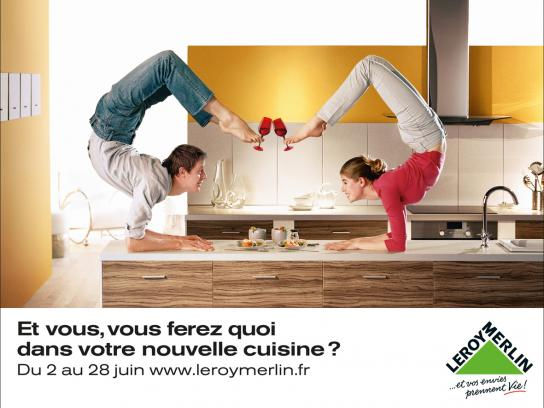 Leroy Merlin Print Ad -  Contortionists