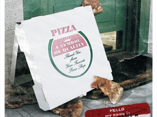 Punk Rock Pizza Print Ad -  Delivery