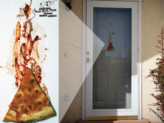 Punk Rock Pizza Ambient Ad -  Door