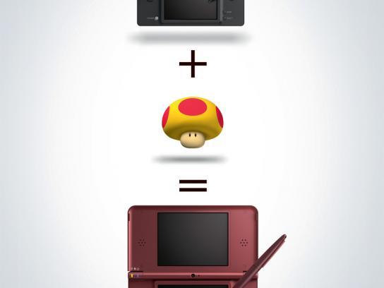 Nintendo Print Ad -  Mushroom