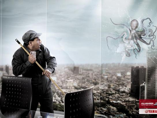 Yamaha Print Ad -  Octopus