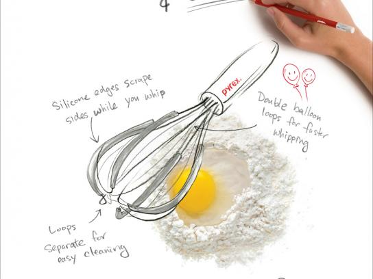Pyrex Print Ad -  Whisk