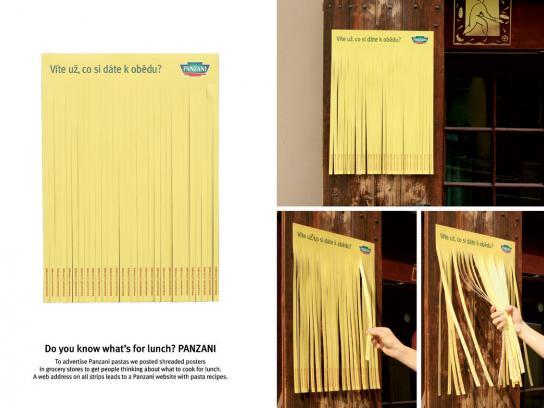 Panzani Ambient Ad -  Spaghetti