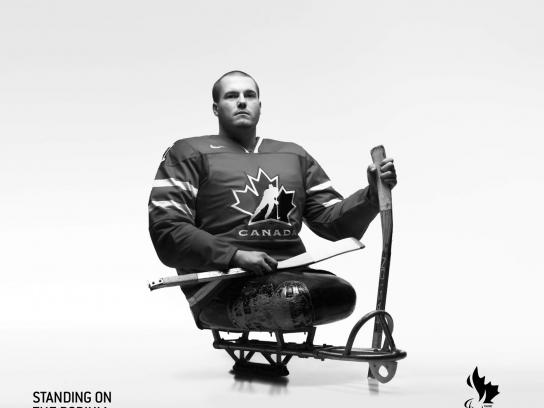 Paralympic Games Print Ad -  Ray Grassi Sledge Hockey