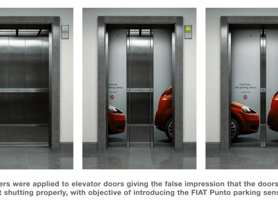 Fiat Ambient Ad -  Elevator parking sensor