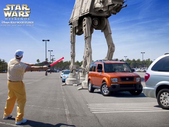 Disney Print Ad -  Parking lot