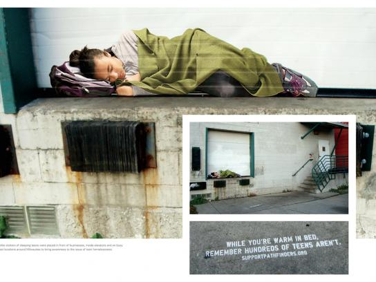 Pathfinders Outdoor Ad -  Homeless Teen, 2