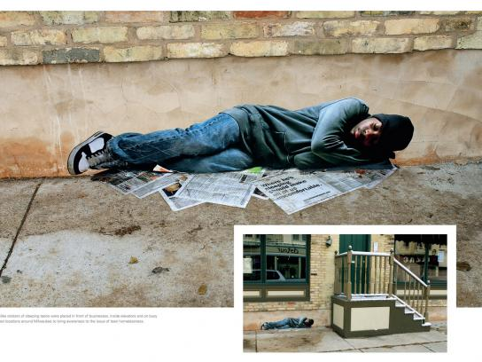Pathfinders Outdoor Ad -  Homeless Teen, 1