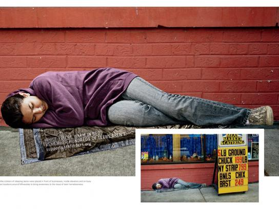 Pathfinders Outdoor Ad -  Homeless Teen, 4