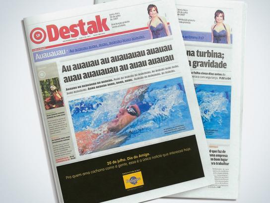 Newspaper wrap