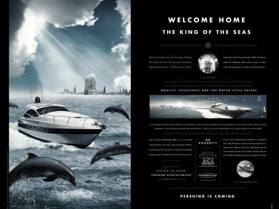 Pershing Print Ad -  History, 2