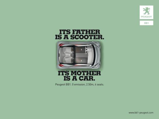 Peugeot Print Ad -  Scooter