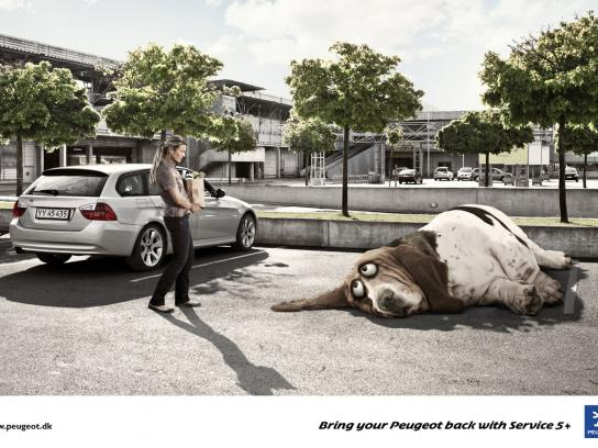Peugeot Print Ad -  Tired Dog