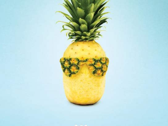 Calgary Farmers' Market Print Ad -  Pineapple